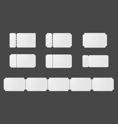 blank ticket templates vector image