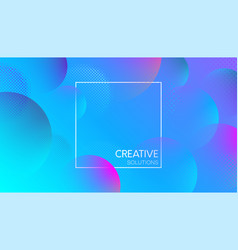 blue creative solutions background with bubbles vector image