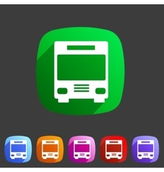 Bus icon flat web sign symbol logo label vector