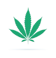 cannabis sign icon icon dope ganja symbol vector image