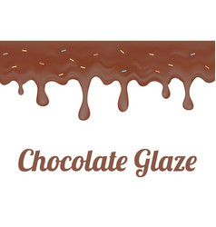 Chocolate doughnut glaze vector
