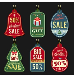 Christmas discount tags vector