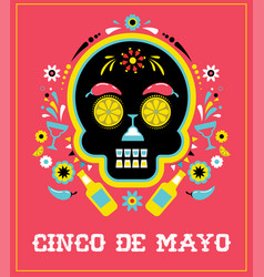 cinco de mayo greeting card vector image