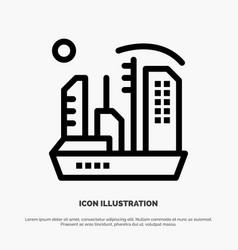 City colonization colony dome expansion line icon vector