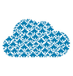 cloud collage of component icons vector image