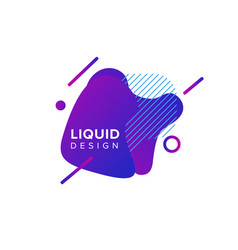 color abstract liquid shape fluid color overlap vector image