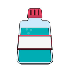 Color image cartoon mouthwash for dental care vector
