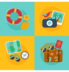 Concepts and banners of travel summer vector image