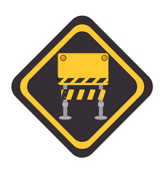 Construction barrier sign icon vector