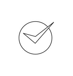 Correct modern icon vector