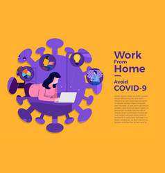 Covid-19 work from home 09 vector
