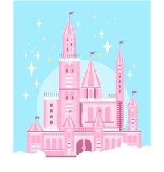 Cute Pink Castle vector