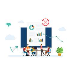 Digital marketing strategy mistake fall down vector