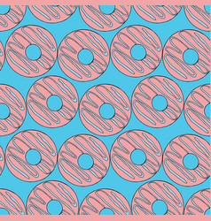 doughnuts seamless pattern vector image