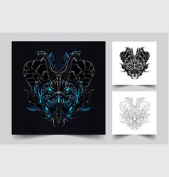 dragon mask artwork vector image