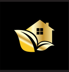 eco business building logo vector image