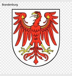 Emblem of brandenburg province of germany vector