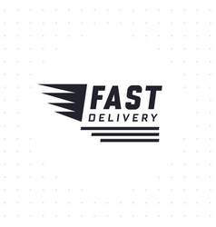 fast delivery design in black color vector image
