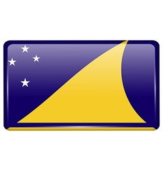 Flags Tokelau in the form of a magnet on vector image