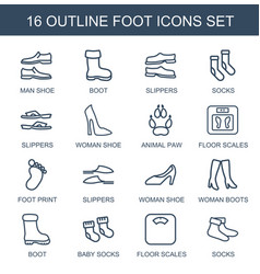Foot icons vector