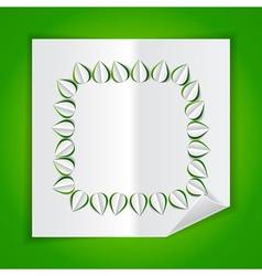 frame leaves paper vector image