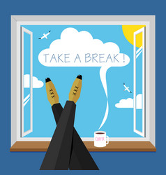 funny poster a break vector image
