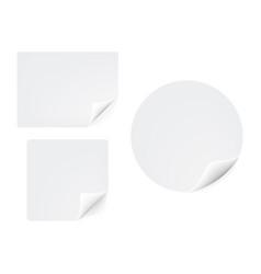 Gebogene papier aufkleber icon vector