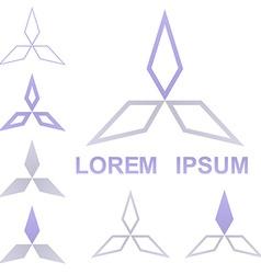 Geometric Triangular Logo Set vector