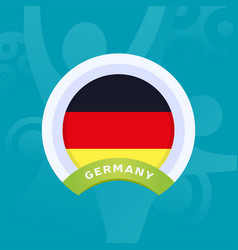 germany flag european football 2020 tournament vector image