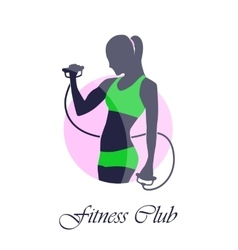 Green pink icon fitness club vector