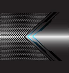 grey metallic blue light arrow circle mesh vector image