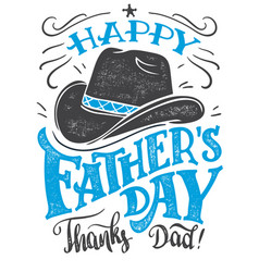 happy fathers day hand-lettering card vector image