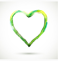 Heart-frame-green vector