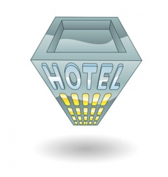 hotel illustration vector image vector image