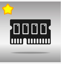 Icon of memory chip ram hardware rom power vector