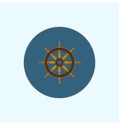 Icon with colored ship wheel vector