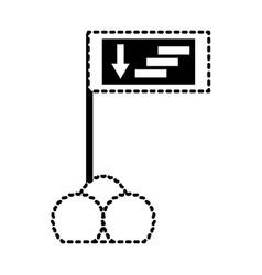 Informative road sign icon vector