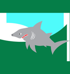 Jaws great white shark vector