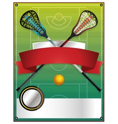 Lacrosse Tournament Blank Template vector