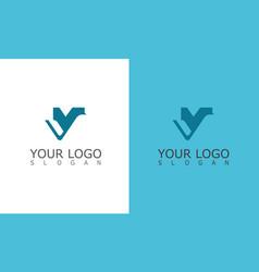 leter v logo vector image