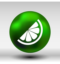logo element in orange slice vitamins vector image