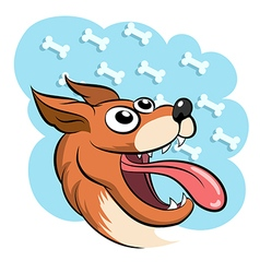 Lucky dog vector