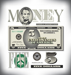 Money 5 Five Fade BG vector