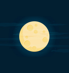 moon in flat dasign style vector image