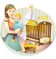 mother nursery vector image