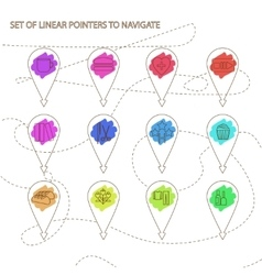 Navigation in city or market vector image