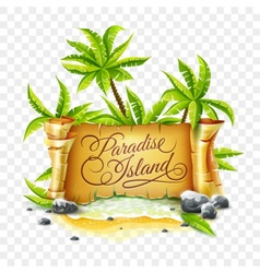 Paradise Island with ancient vector