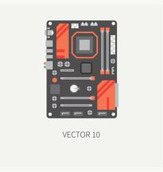 Plain flat color computer part icon vector