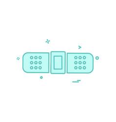 plaster icon design vector image