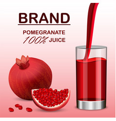 pomegranate juice concept background realistic vector image